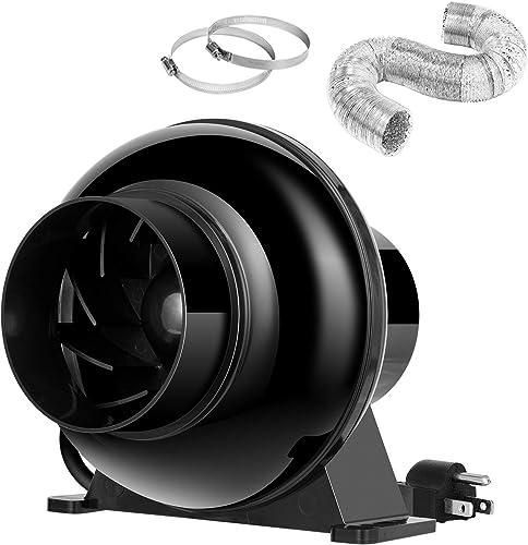 VIVOSUN 4 Inch Inline Ventilation Fan 4 Inch 8 Feet Ducting