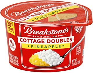 Breakstones Cottage Doubles Pineapple Cottage Cheese, 4.7 Ounce -- 12 per case.