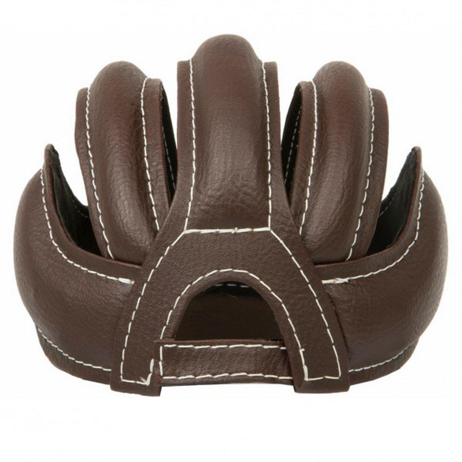 Casque de cyclisme de cuir couleur marron vintage r/étro Taille Standard adulte 3486