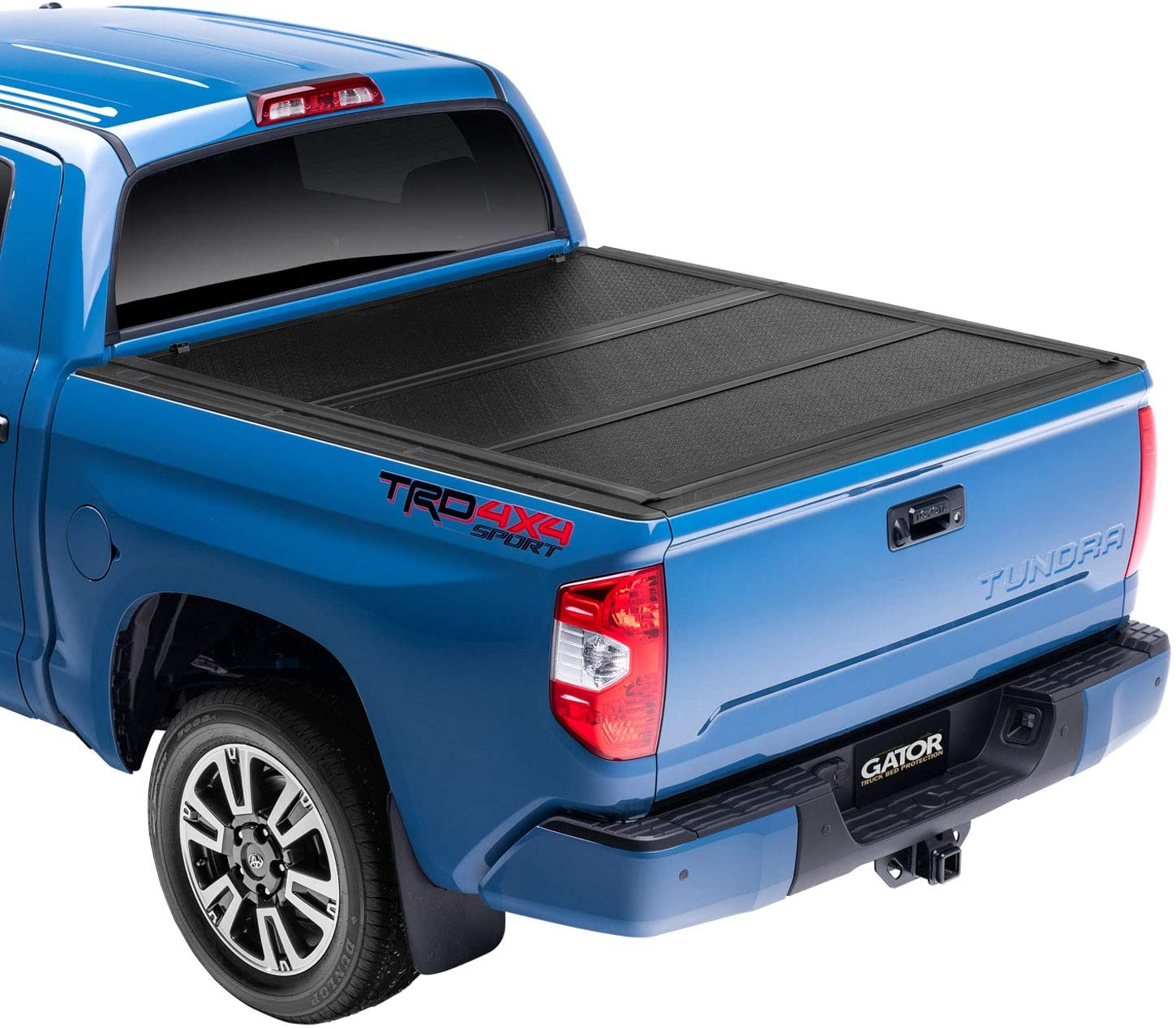 Amazon Com Gator Efx Hard Tri Fold Truck Bed Tonneau Cover Gc44008 Fits 2007 2021 Toyota Tundra W Cargo Management System Will Not Work With Trail Edition Models 5 7 Bed 66 7 Automotive