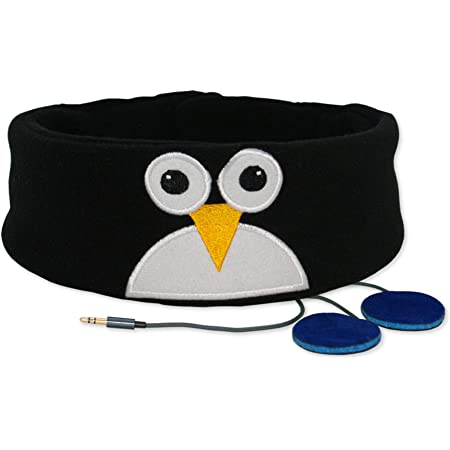 Snuggly Rascals (v2) Kids Headphones - Headphones for Kids - Comfortable, Adjustable and Volume Limited - Great for Travel & Children's Tablets and Smartphones - for Girls and Boys - Fleece - Penguin