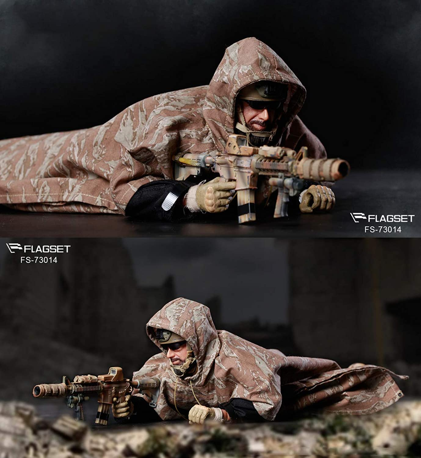 FLAGSET 1 6 Scale Modern Army Military Male Soldier Action Figures, 12in Flexible PVC Model Set (FS-73014 - Ranger Regiment)
