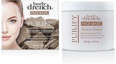 Body Drench Purify Moroccan Ghassoul Rejuvenating Face Mask, 4 oz