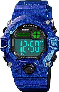 VIVIKEN Kids Watch for Boys Digital Outdoor Sport Waterproof EL-Lights Wristwatch with Alarm Luminous Stopwatch Casual Mil...