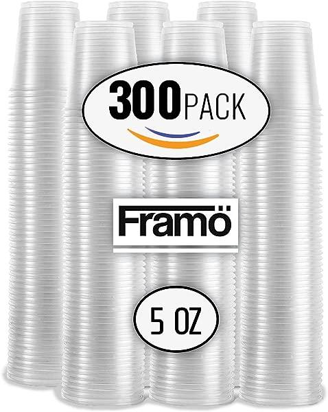 5 盎司透明塑料杯,适用于任何场合,不含 BPA,透明冰茶,果汁苏打水和咖啡玻璃杯,适用于派对,野餐,烧烤,旅行和活动,300 透明