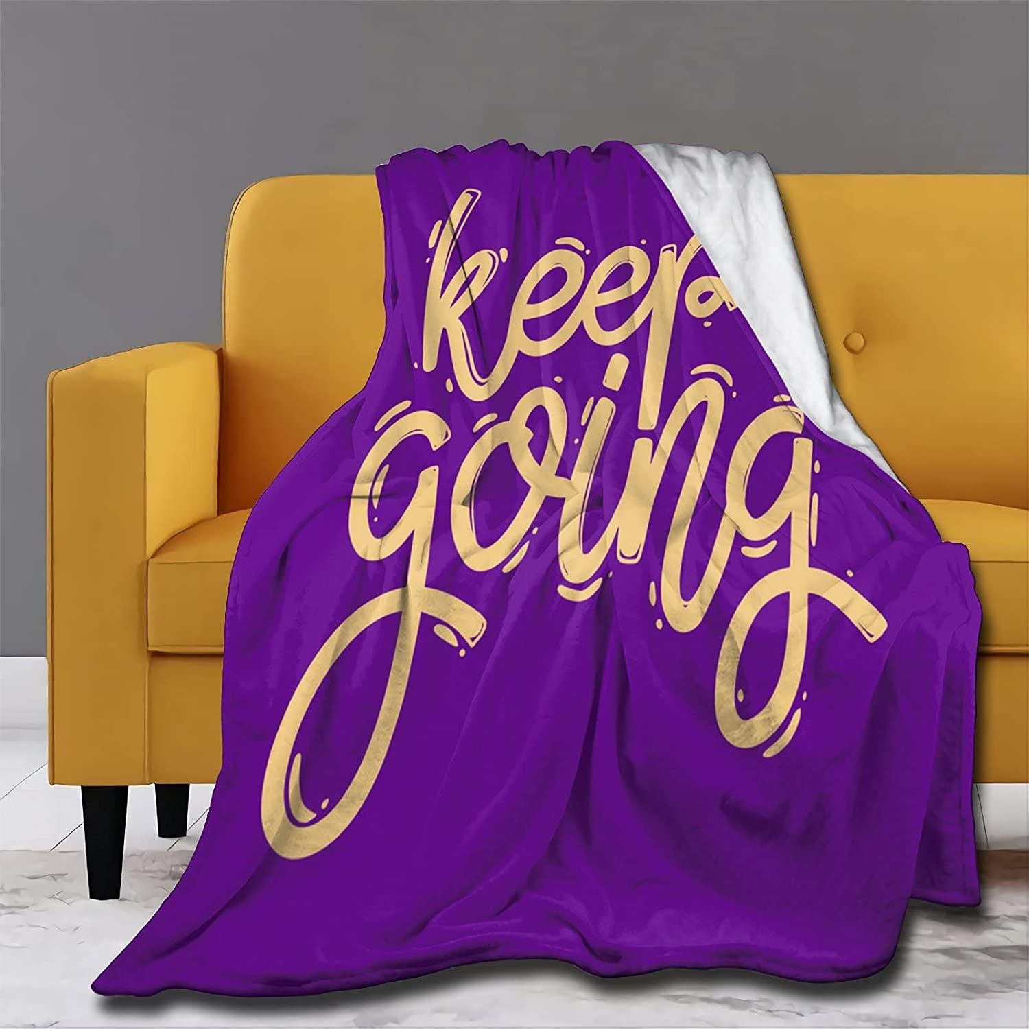 Prabhutaratna Purple Omaha Mall Going OFFicial mail order Flannel Blankets Comfortab and Light