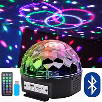 Amazon Com Bluetooth Speaker Party Light Disco Lights 9 Colors 9w Magic Ball Projector Stage Lights Strobe Club Lights Effect Mini Led Lights Wireless Phone Connection With Remote Connection For Decoration Home Improvement