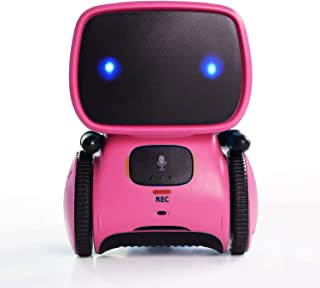 Wonder Gears Smart at Robot - Voice Command, Touch Control, Music and Dancing (Red)