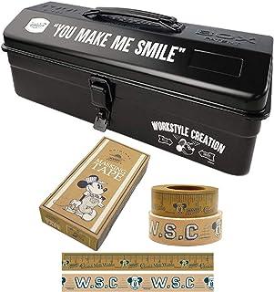 Workson 山型工具箱&マスキングテープセット [TOYO スチール別注 ミッキーデザイン ] (Workson Disney Workstyle Collection) ツールボックス 道具入れ [サイズ:約H15×W36cm]