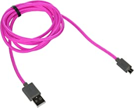 iHome iHome Nylon Braded Micro USB Cable (5ft.) - Data Cable - Retail Packaging - PINK