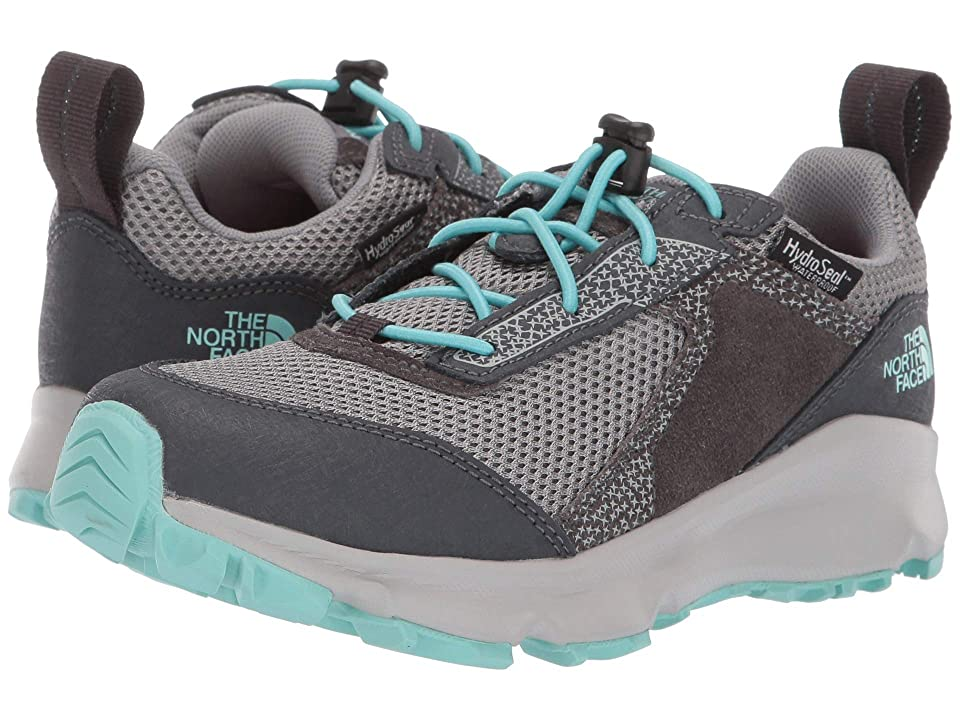 The North Face Kids Hedgehog Hiker II Waterproof (Little Kid/Big Kid) (Blackened Pearl/Aqua Splash) Girls Shoes