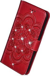 Herbests Etui na telefon komórkowy kompatybilne z Samsung Galaxy A10, etui na telefon komórkowy z motywem mandali, kwiaty,...