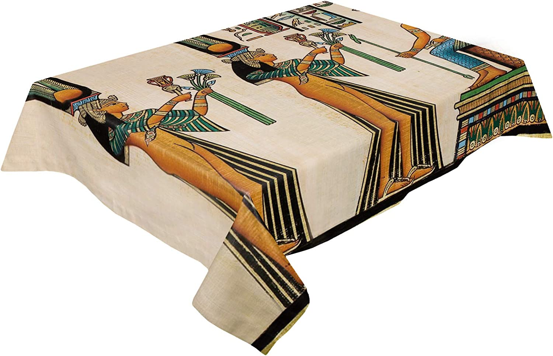 Cotton Linen Tablecloth Ancient Civilization Women Egypt Max 83% OFF Long-awaited Figure
