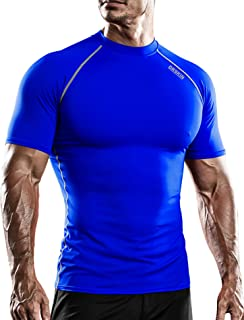 DRSKIN قميص رياضي رجالي ضاغط بارد جاف قصير الأكمام بلوزة رياضة الجري Rashguard