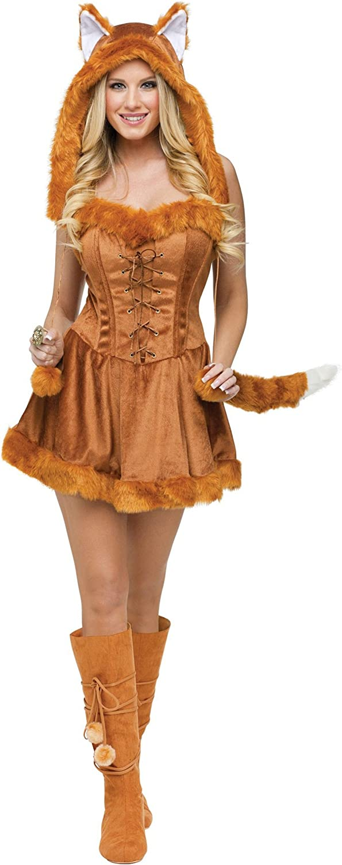 Fun World Charlotte Mall Women's Outlet ☆ Free Shipping Foxy Lady Medium Large Sexy Fox Costume