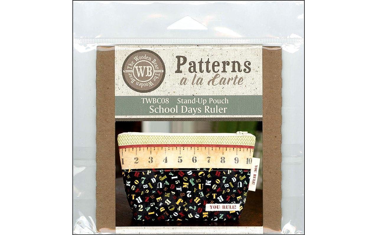 Wooden Bear, The The The La Carte School Days Ruler CD Pattern
