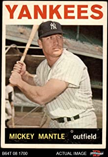 1964 Topps # 50 Mickey Mantle New York Yankees (Baseball Card) Dean's Cards 3.5 - VG+ Yankees