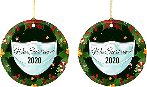 new arrival OPTIMISTIC Christmas wholesale Ornaments Set Christmas Tree outlet online sale Hanging Decorations Xmas Tree Pendant Festive Season Holiday Party Decor Wooden Round DIY Christmas Crafts online sale