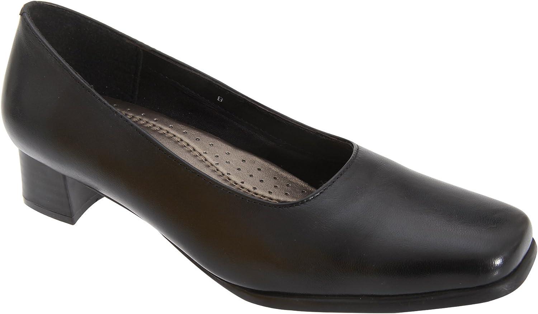 Mod Comfys Womens Ladies Plain Leather Court shoes