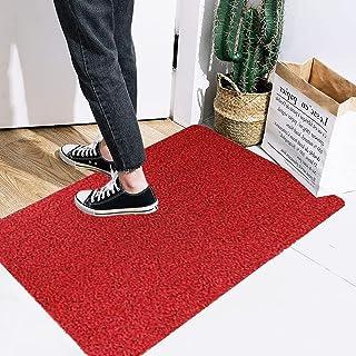 Aokarry Pure Color Door Mat Indoor Outdoor Doormat Multiple-use Welcome Mats for Front Door, Nylon Wine Red Easy Clean, Ho...