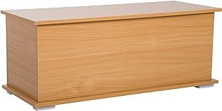 comprar comparacion HOMCOM Baúl Madera Armario Bajo de Almacenaje Banco Asiento Arcón Multiusos Caja de Juguete Taburete para Cama 100x40x40cm