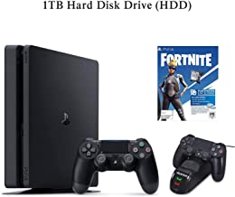 NexiGo 2020 Newest Playstation 4 PS4 1TB HDD Console, Fortnite_Game Charging Station Dock Bundle