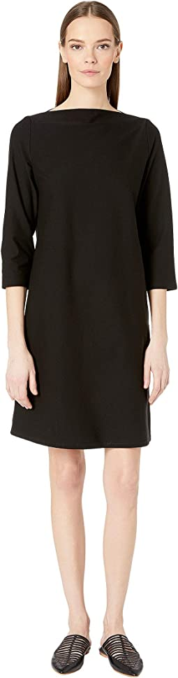 Bateau Neck 3/4 Sleeve Dress