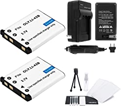 LI-42B / LI-40B / LI-40C Battery 2-Pack Bundle with Rapid Travel Charger and UltraPro Accessory Kit for Select Olympus Cameras Including FE-350, FE-360, FE-3000, FE-3010, and FE-4000