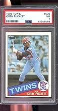 1985 Topps #536 Kirby Puckett Twins ROOKIE RC NM PSA 7 Graded Baseball Card - Slabbed Baseball Cards