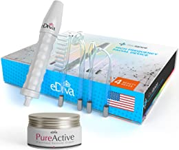 Ediva Portable Handheld High Frequency Skin Therapy Wand Machine w/Neon - Acne Treatment - Skin Tightening - Wrinkle Reducing - Dark Circles - Puffy Eyes - Hair Follicle Stimulator