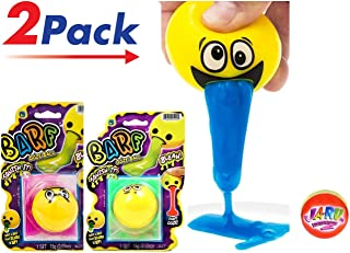 JA-RU Emoji Barf Ooze Stress Relief Squeeze Ball (Pack of 2 Units) Squishy Stress Slime Putty Ball Kit Plus 1 Collectable Bouncy Ball   Item #5299-2slp
