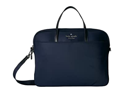 Kate Spade New York Universal Slim Laptop Commuter (Rich Navy) Handbags
