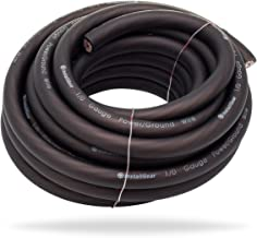 InstallGear 1/0 Gauge Black 25ft Power/Ground Wire True Spec and Soft Touch Cable