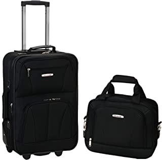 Luggage 2 Piece Set, Black, Medium