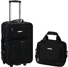 Rockland Luggage 2 Piece Set, Black, Medium
