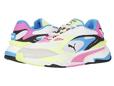 PUMA RS-Fast (Puma White/Luminous Pink/Fizzy Yellow) Women