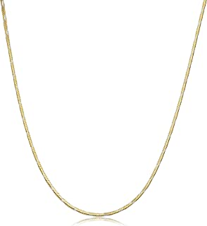 Two-tone Sterling Silver Square Snake Chain Necklace (1.3 mm, 18, 20 or 24 inch)
