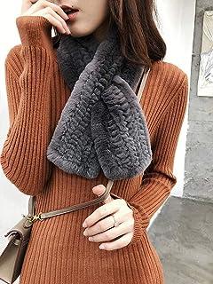 BeeShop(TM) 100% Real Rex Rabbit Scarf Hand Knitted Fur Scarves Girl's Neck Warmer Neckerchie