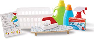 Melissa & Doug Laundry Basket Play Set with Wooden Iron, Ironing Board, and Accessories (14 Pieces)