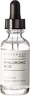 Best Hyaluronic Acid Serum 1 oz, 100% Pure Organic HA, Anti Aging Anti Wrinkle, Original Face Moisturizer for Dry Skin and Fine Lines, Leaves Skin Full and Plump ASTERWOOD NATURALS Dropper Bottle Review