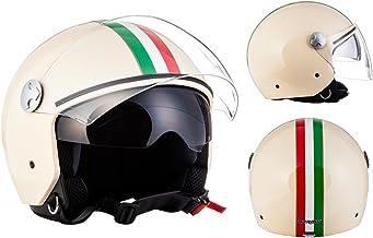 Roller-Helm f/ür Frauen und Herren im edlen Vintage-Look Qualit/ät nach ECE-Norm, ORIGINAL Fr/äulein Irmi Retro Vespa-Helm Jet-Helm mit Sonnen-Visier