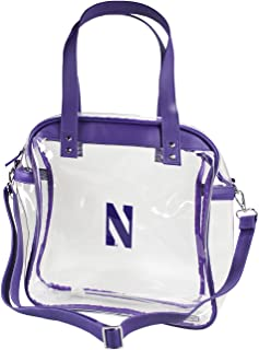Capri Designs Clear Carryall Tote Stadium Approved/Tansparent with Accent