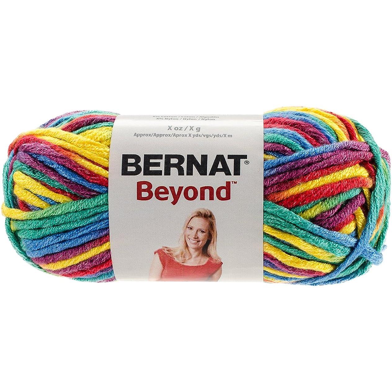 Bernat Beyond Yarn, 4.2 oz, Gauge 6 Super Bulky Chunky, Rainbow Kid Variegate xcsvzhiq459