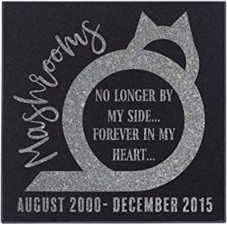 Personalized Pet Memorial Stone - Granite Dog or Cat Grave Marker   4 Sizes  Sympathy Poem, Loss of Pet Gift, Indoor - Outdoor Tombstone Headstone - Dog Grave Marker w/Pet Name