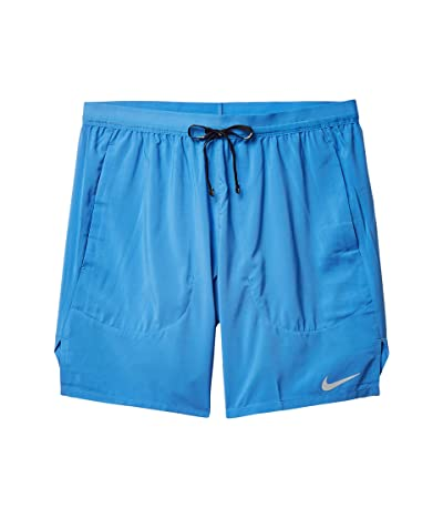 Nike Flex Stride 2-in-1 Shorts 7 (Pacific Blue/Obsidian/Reflective Silver) Men