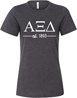 Alpha Xi Delta Women's Relaxed Fit Short Sleeve Jersey Tee