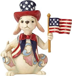 Enesco Jim Shore Heartwood Creek Pint Size Patriotic Dog w/Flag