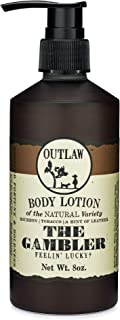 Outlaw The Gambler Bourbon-Inspired Natural Lotion - The Luckiest Scent Around - Whiskey, Old-Fashioned Tobacco, and a Hin...