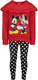 Minnie Mouse Girls Long-Sleeve Fashion Shirt & Legging Outfit Set 4-6X