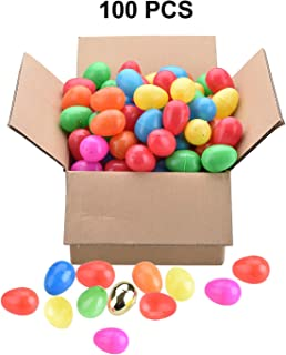 Easter Eggs [94 + 6 Pieces] for Easter Egg Hunts, Community Hunts, Easter Theme Party Favor, Basket Stuffers Filler with 2.36 in. and 7 Colors